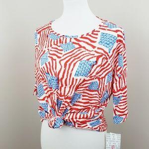 Lularoe 》American Flag Irma Tunic Top
